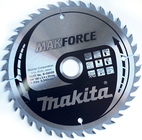 Fantastisk! Fantastisk mad Makita Rundsavsklinge 160mm 40T hul:20 MP44