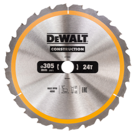 Dewalt  klinge 305mm x 30mm(hul)  24T Construction blade