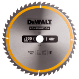 Dewalt klinge 305mm x 30mm(hul)  48T Construction blade