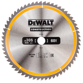 Dewalt  klinge 305mm x 30mm(hul)  60T Construction blade