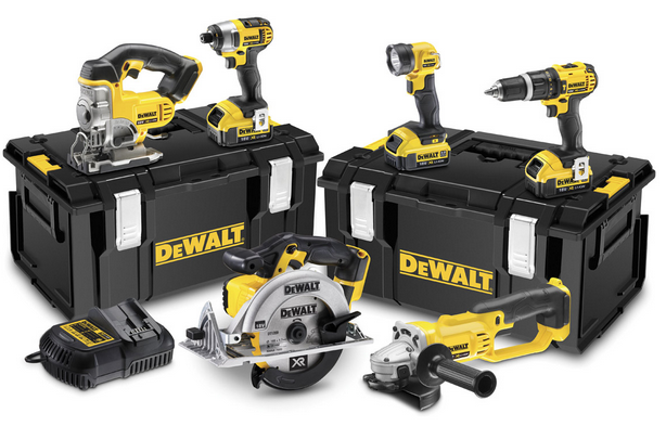 Sensationelle DeWALT sæt XR DCK691P3 6-pack 3 batterier 5.0Ah WF13