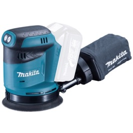 Makita excentersliber 18V  125 mm DBO180z 190 watt, variabel