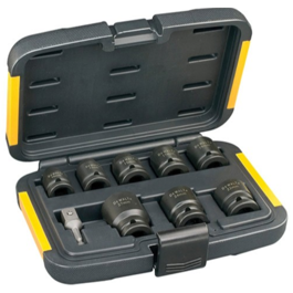 Dewalt 9 dels kit med slag-toppe 10-27mm