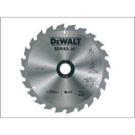 Dewalt  klinge 250mm x 30mm(hul)  24T Construction