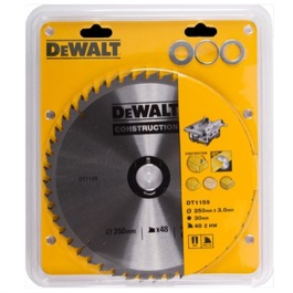 Dewalt  klinge 235mm x 30mm(hul)  40T Construction