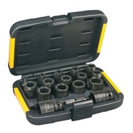 Dewalt 17 dels kit med toppe 6-27mm