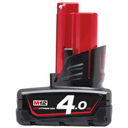 Milwaukee 12V Li-Ion batteri M12 serien 4.0Ah