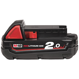 Milwaukee 18V Li-Ion batteri M18 serien 2,0Ah M18B2