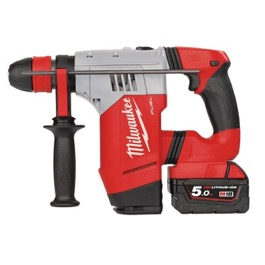 Milwaukee 18V SDS plus Borehammer M18 serien kit m. 2 x batteri og lader